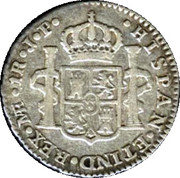 1 real Ferdinand VII (1er type) – revers
