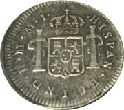 ½ real Charles III (type effigie) – revers
