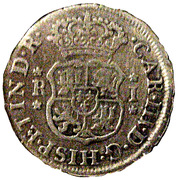 1 real Charles III (type écusson) – avers