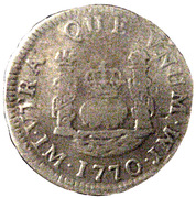 1 real Charles III (type écusson) – revers