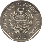 1 nuevo sol 450 ans Casa Nacional de Moneda -  avers