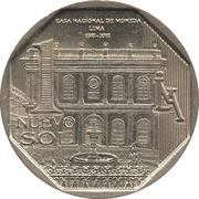 1 nuevo sol 450 ans Casa Nacional de Moneda -  revers