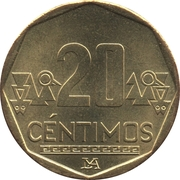 20 centimos -  revers