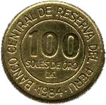 100 soles de oro Amiral Grau -  revers