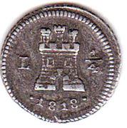 ¼ real Ferdinand VII – revers