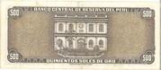 500 SOLES DE ORO – revers