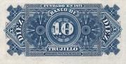 10 Centavos (Banco de Trujillo) – revers