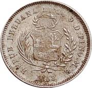 ½ real République (Monnaie de transition, Vierge debout) – avers