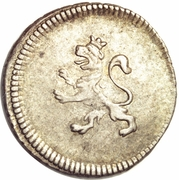 ¼ real Charles IV (type château) – avers