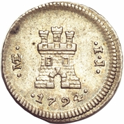 ¼ real Charles IV (type château) – revers