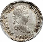 ½ real Ferdinand VII (2e type) – avers