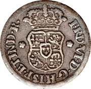 ½ real Ferdinand VI (type écusson) – avers