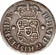½ real Ferdinand VI (type écusson) – avers