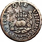½ real Ferdinand VI (type écusson) – revers