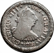 ½ real Charles III (type effigie) – avers