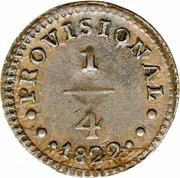 ¼ real Monnaie provisoire – revers