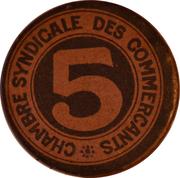 5 Centimes - Chambre Syndicale des Commerçants - Perpignan [66] – avers