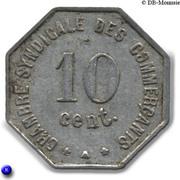 10 centimes - Chambre syndicale des commerçants - Perpignan [66] – revers