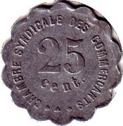 25 Centimes  - Chambre Syndicale des Commerçants - Perpignan [66] – revers