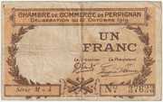 1 franc - Chambre de commerce de Perpignan – avers