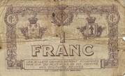 1 Franc - Chambre de Commerce de Perpignan (notgeld, 1915-1922) – revers