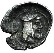 Obol - temp. Artaxerxes II - Ionia satrapy - 404-358 BC (PROVINCIAL COIN WITH ROYAL TYPE - Greco-Asiatic Standard - series V) – avers