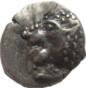 "AR Obol 395-372 B.C. - Satraps of Caria. Hekatomnos ""Ἑκατόμνος"" – avers"