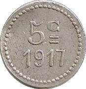 5 Centimes - Union Commerciale  - Peyriac Minervois [11] – revers