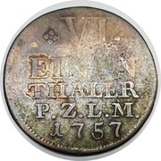 ⅙ thaler Christian IV – revers