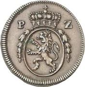½ Kreuzer - Karl II. August – avers