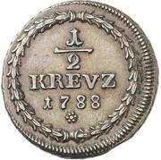 ½ Kreuzer - Karl II. August – revers