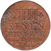 ¼ Kreuzer - Christian IV – revers