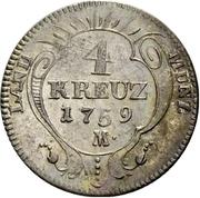 4 Kreuzer - Christian IV. – revers