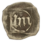 1 Pfennig - Ludwig III., Johann von Neumarkt and, Otto I. (Schwarzpfennig) – revers
