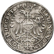 1 Guldentaler - Friedrich III. – revers
