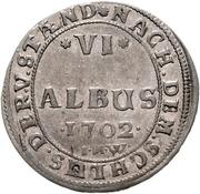 6 Albus - Johann Wilhelm – revers
