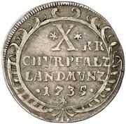 10 Kreuzer - Karl Philipp – revers
