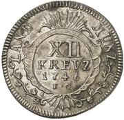 12 Kreuzer - Karl Theodor – revers