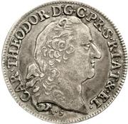 20 Kreuzer - Karl Theodor (Konventionskreuzer) – avers