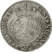 20 Kreuzer - Karl Theodor (Konventionskreuzer) – revers