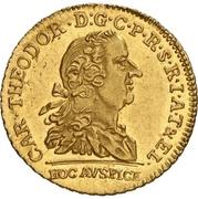 1 Ducat - Karl Theodor (Lotterie-Dukat) – avers