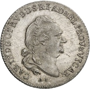20 Kreuzer - Karl Theodor (Vicariat) – avers
