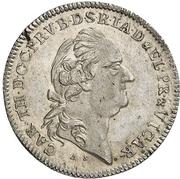 10 Kreuzer - Karl Theodor (Konventionskreuzer; Vicariat) – avers