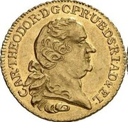 1 ducat Karl Theodor (Rheingold-Dukat) – avers