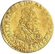 ½ ducat Karl Ludwig – avers
