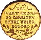 1 Ducat - Karl Theodor (Jubilé d'Or) – revers