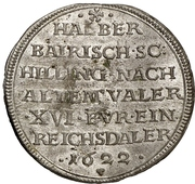 ½ Schilling - Wolfgang Wilhelm (Halber Bayrischer Schilling) – revers