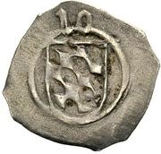 1 Pfennig - Ludwig III., Johann of Neumarkt and Otto I. of Pfalz-Mosbach (Schwarzpfennig; Amberg) – avers
