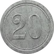 20 pfennig - Pforzheim (Kollmar & Jourdan AG) -  revers