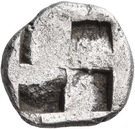 Trihemiobol (Phagres) – revers